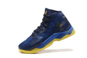 8823f6ef16dc Mens Under Armour Curry 2. 5 Playoffs MVP Taxi Team Royal Midnight Navy 1274425  400