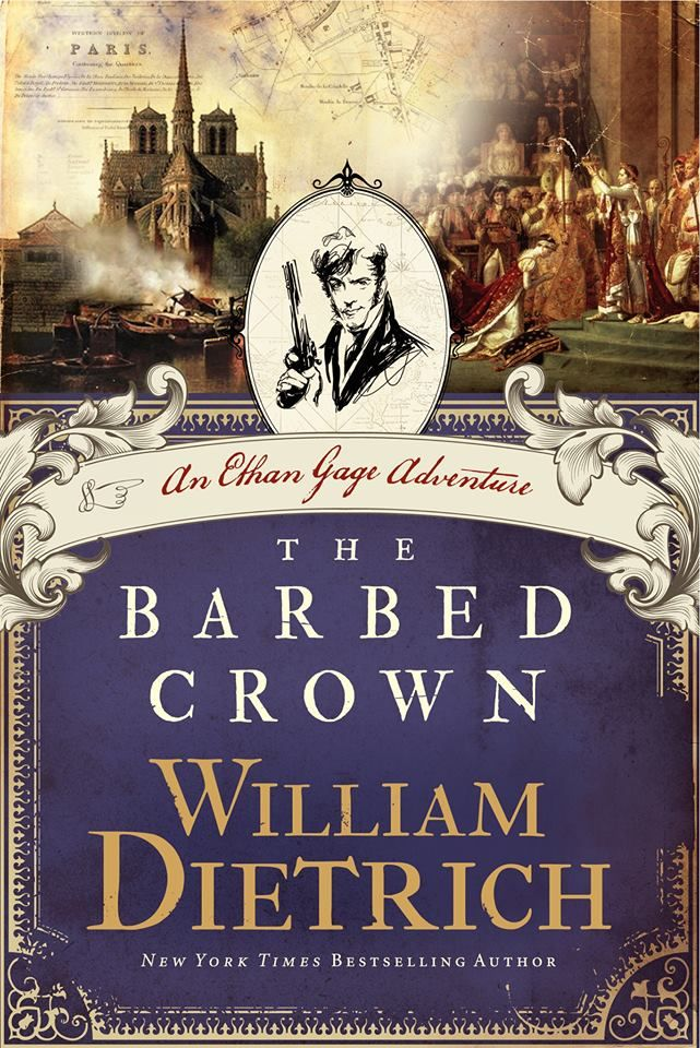 """""""The Barbed Crown"""" book cover. I really like the mixed media used in this book cover."""