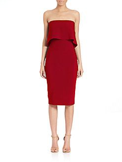 LIKELY - Driggs Strapless Dress @ saks  This in White- maybe wear or place lace over the gown.