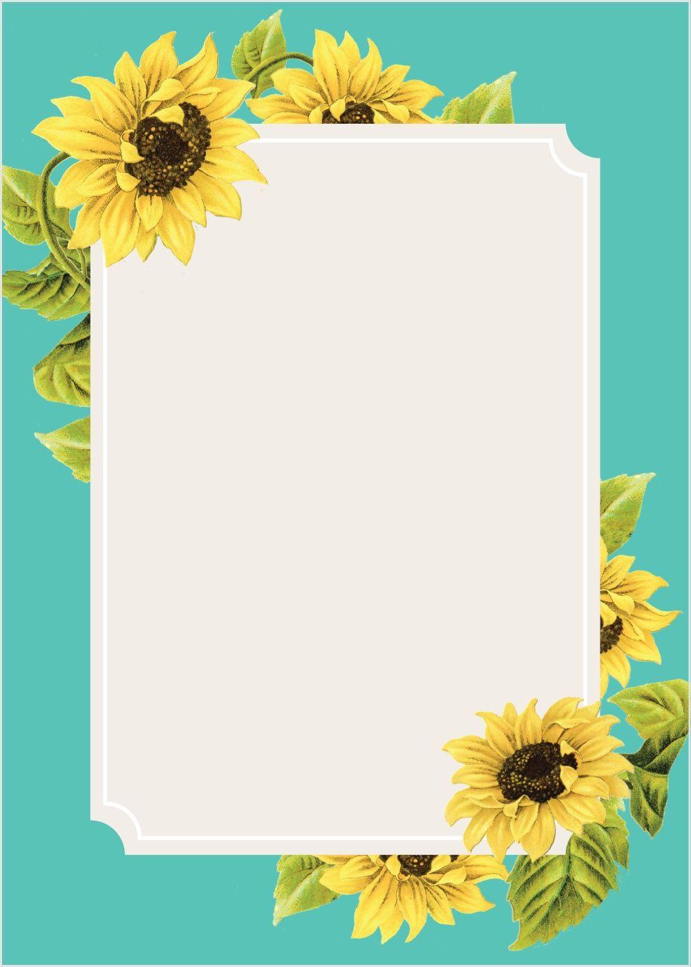 Sunflower Frame Wedding Invitations Country Wedding