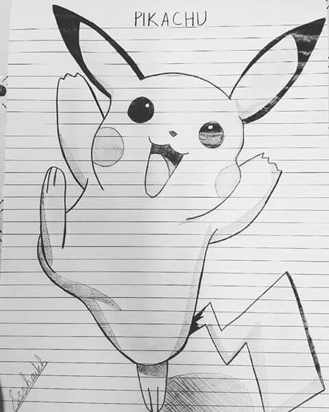 Pikachu Drawing Pencil Sketch Pikachu Pokemon Anime My Work