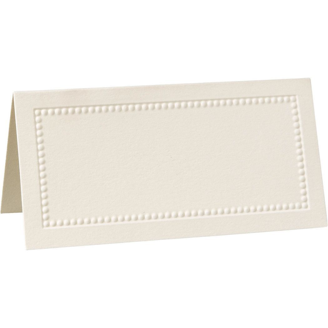 William Arthur Ecru Beaded Border Placecards Wedding Place Pertaining To Paper Source Temp Wedding Place Cards Printable Place Cards Templates Wedding Places