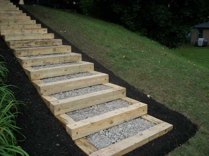 Best Steps Pettys Landscaping Landscape Timbers Sloped 400 x 300