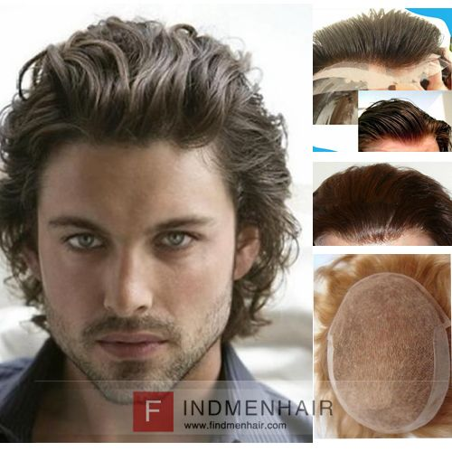 Classic Glam Of Milan Celebrities Handsome Hairstyle Slicked Back Combed Long Wavy Mens Human Hair Wigs Boston Wavy Hair Men Thick Hair Styles Curly Hair Men