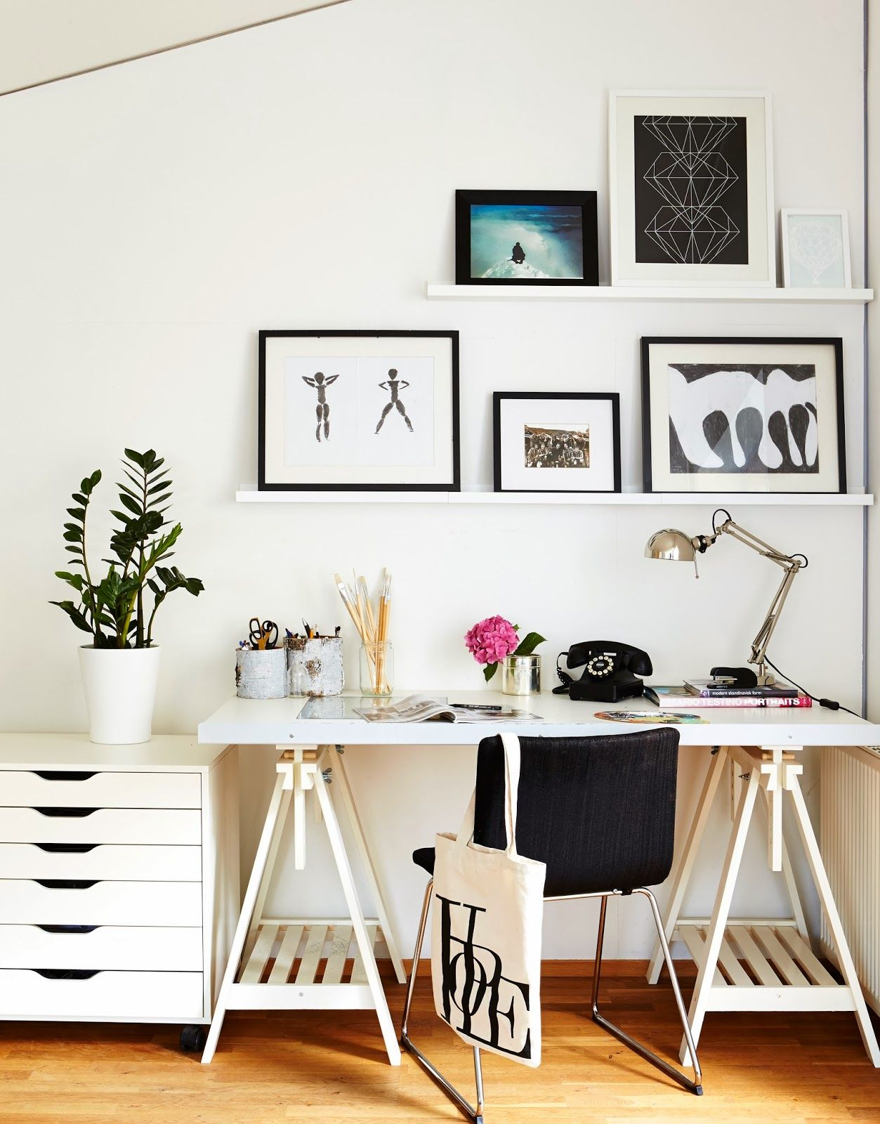 design bloggers at home | Open shelves, Spaces and Picture rail