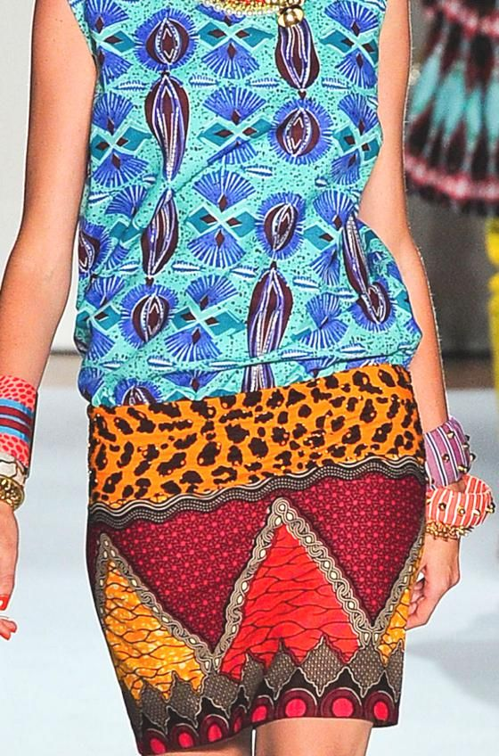 patternprints journal: ETHNIC PATTERNS MIX INTO S / S 2013 COLLECTION BY STELLA…