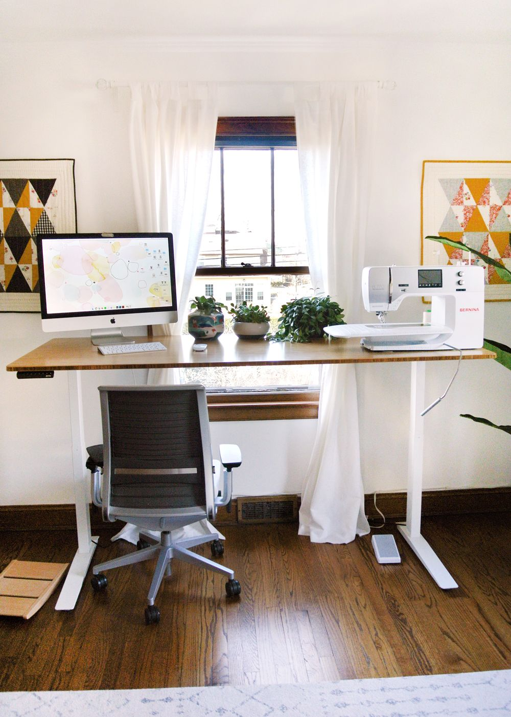 New and Improved! My Standing Desk Sewing Studio  Sewing desk
