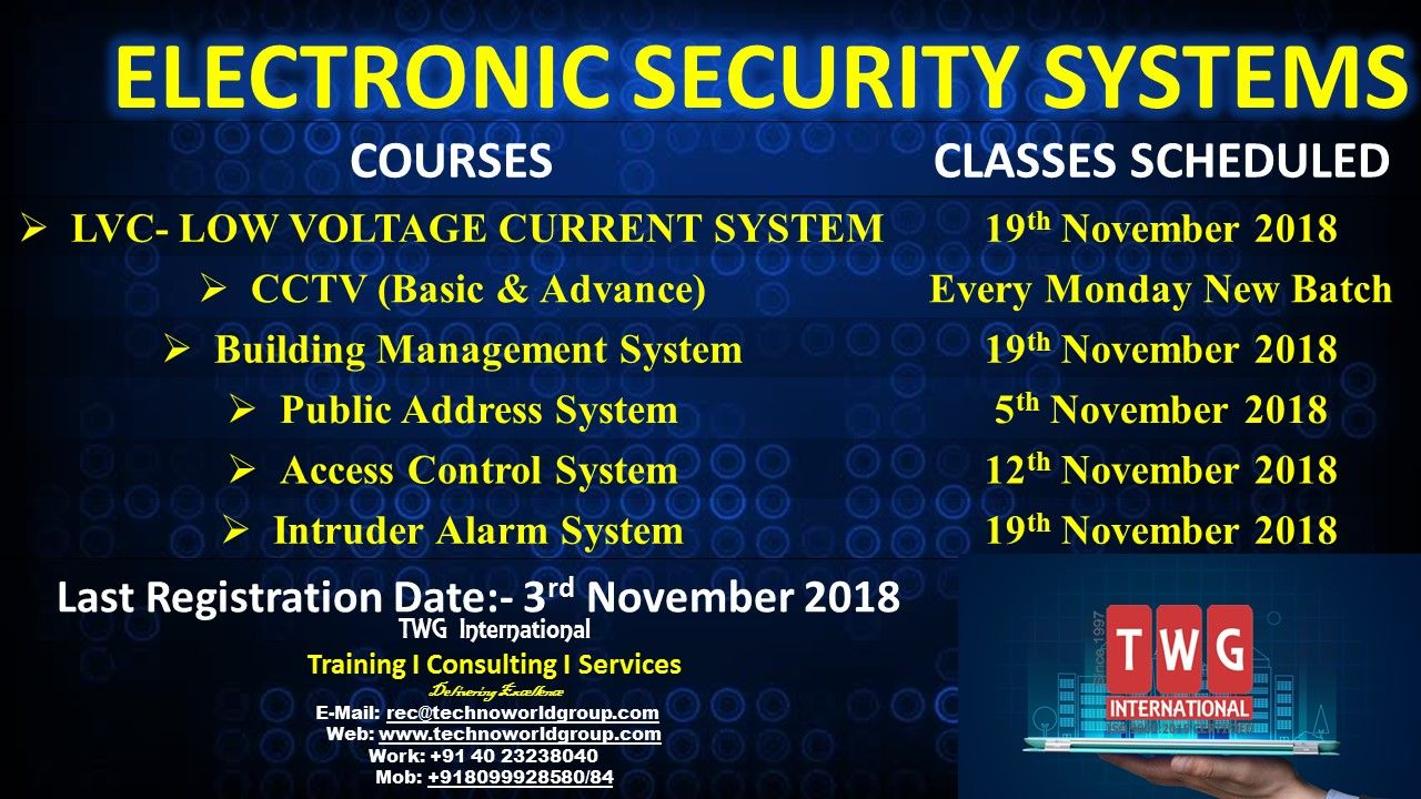 ELECTRONIC SECURITY SYSTEMS TWGInternational Training