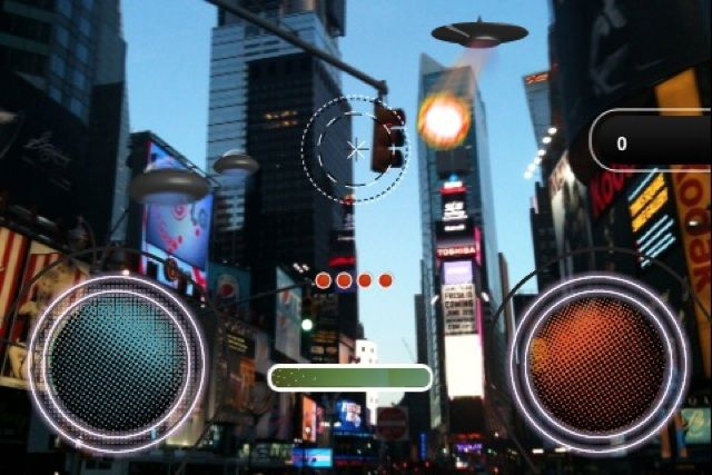 Augmented Reality Invaders app