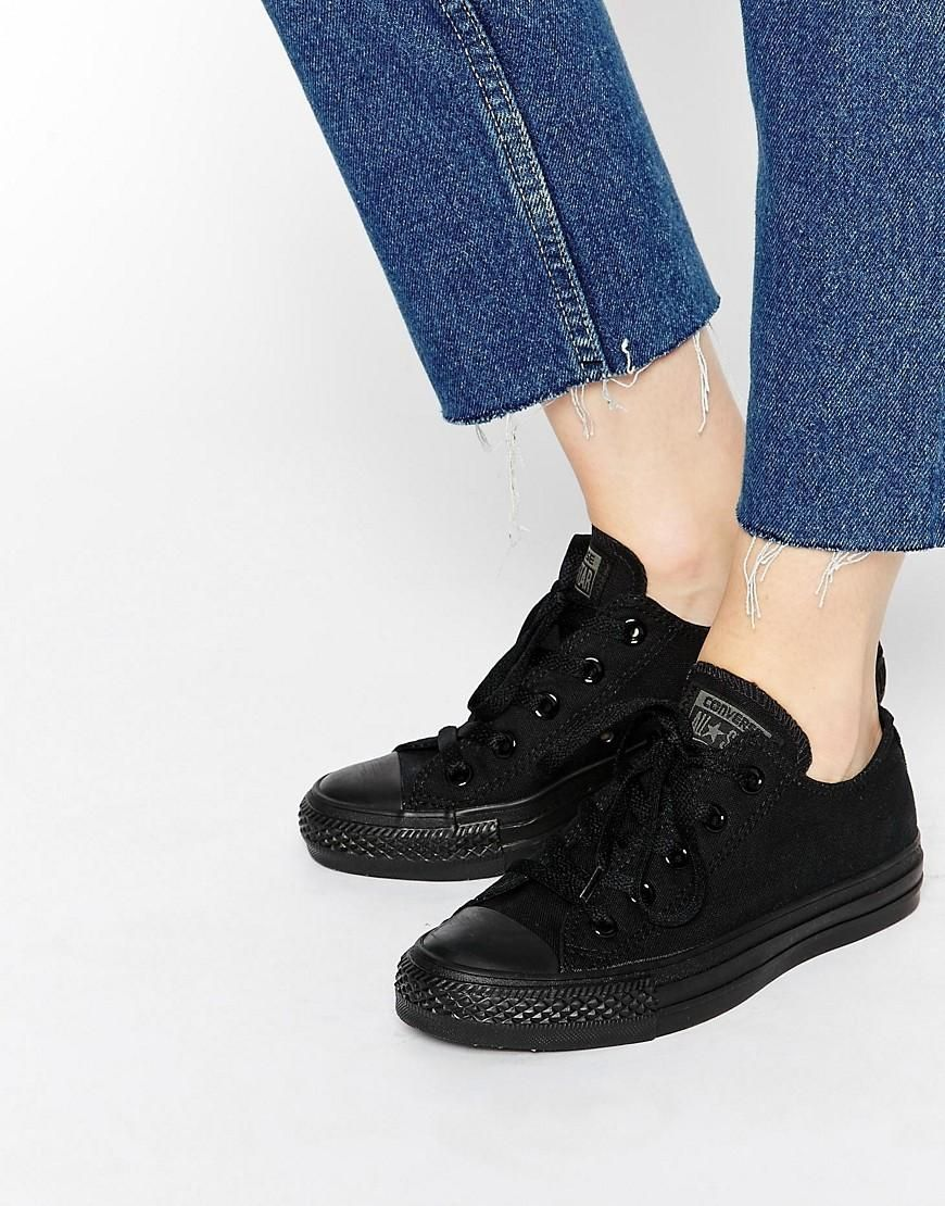 Buy Women Shoes / Converse All Star Chuck Taylor All Star Mono Ox Black Trainers