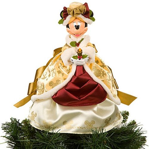 Disney World Minnie Mouse Victorian Christmas Tree Topper ...