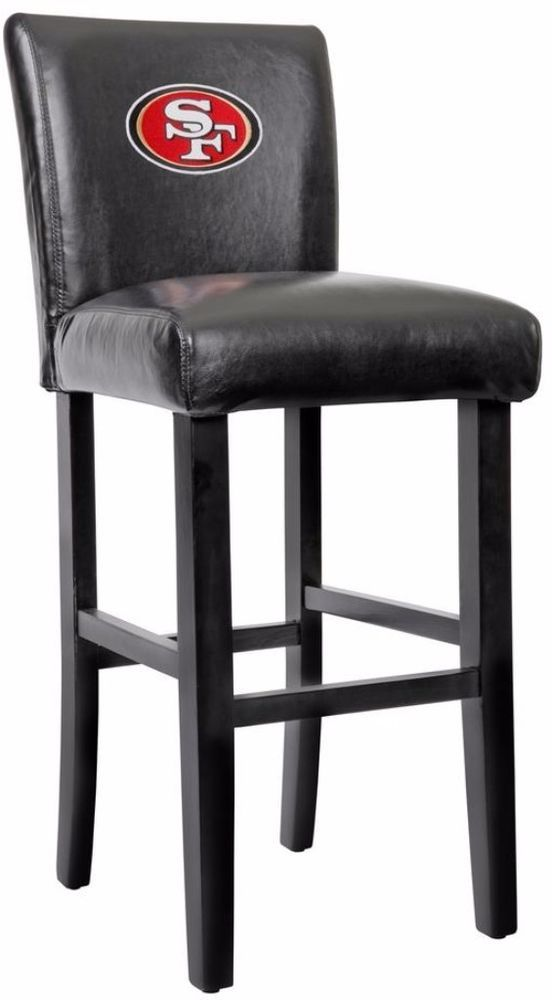 Removable Heavy Duty Black Bar Stool With Faux Leather Cover 30