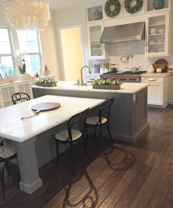 Kitchen Island With Table Height Seating Luv This Island! Kitchen | My House Of Four | Instagram