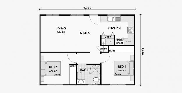 Roayal 2 Bedroom Granny Flat 60m2 Granny Flats Australia Granny Flat Granny Flat Plans