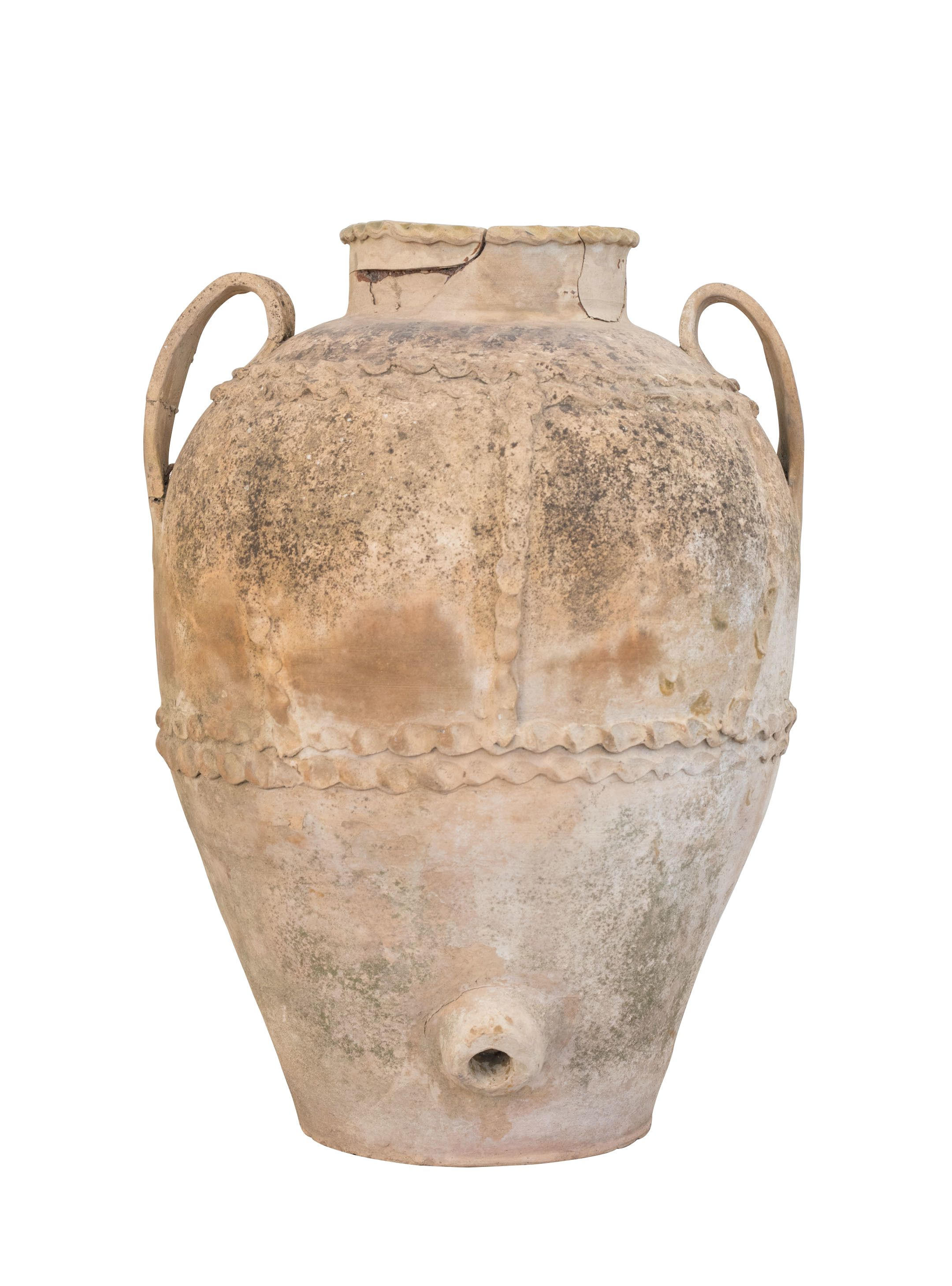 Old Terracotta Apulian Vase Xix Century Terracotta Antiques Century