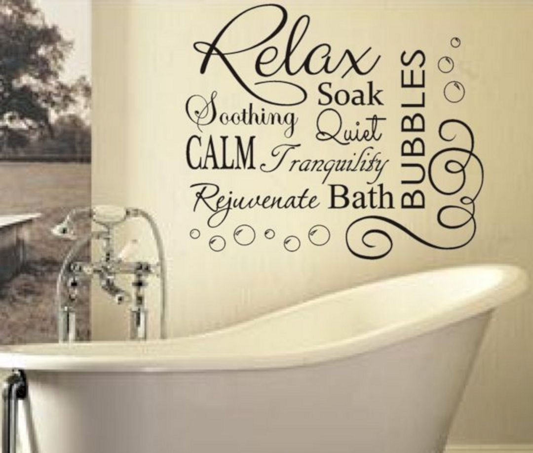 30 Most Wonderful Quotes Beach Bathroom Decor For Inspiration Decor Gardening Ideas Bathroom Wall Decals Bathroom Vinyl Bathroom Wall Stickers