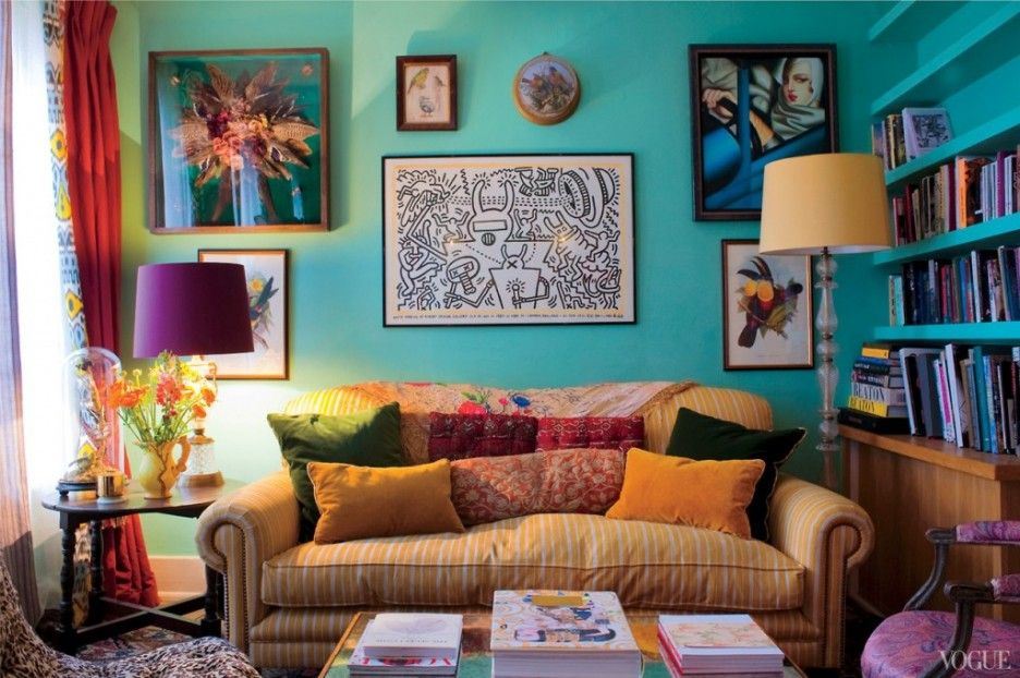 Cool Vogue Living Room Ideas With Table Lamp And Blue Wall ~ http://lanewstalk.com/utilize-small-room-with-murphy-desk-ideas/