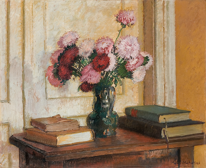 Still life with Asters Bouquet Józef Mehoffer , 194046