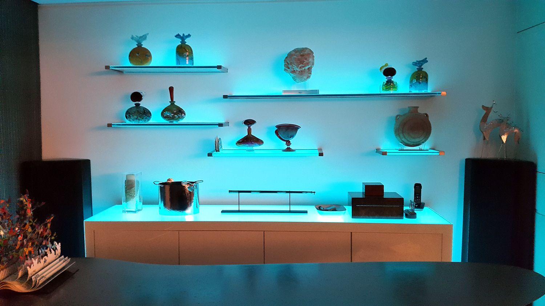 Glass Shelf Lighting   Pinterest   Glass shelves, Shelves and Lights