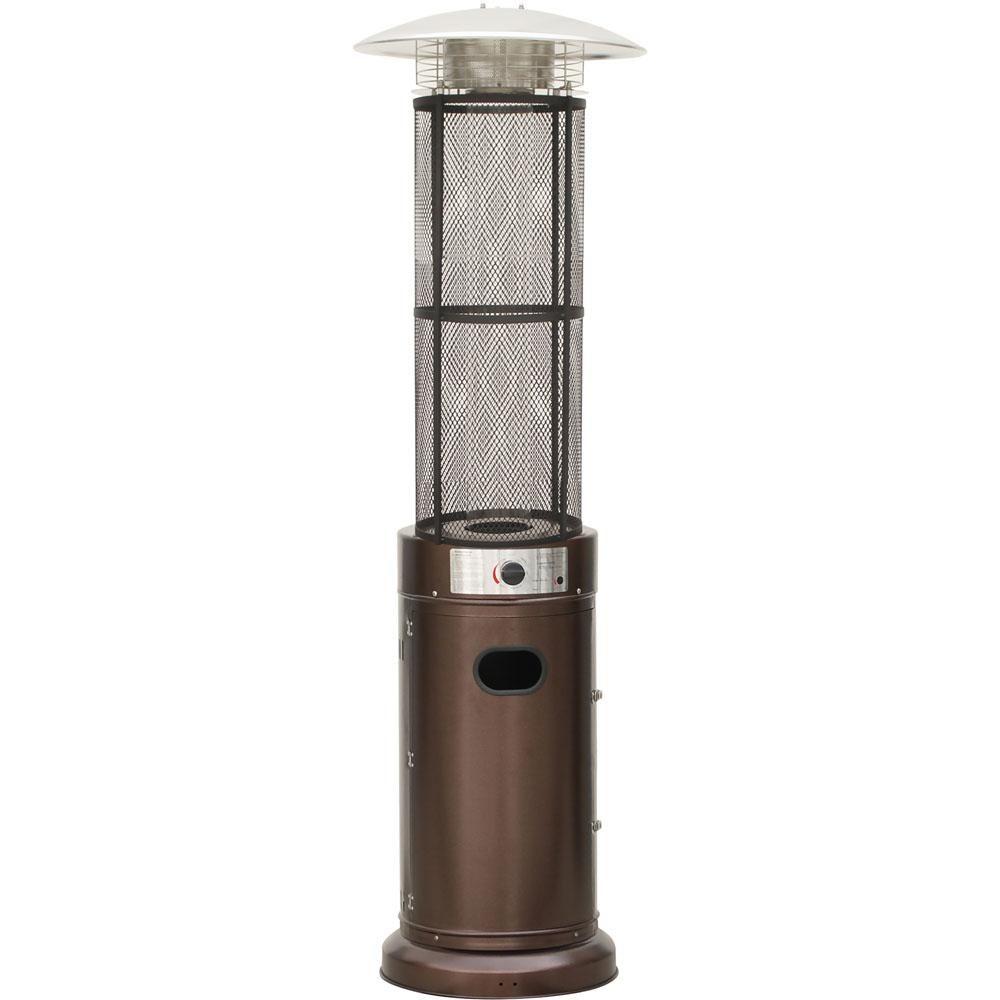 Hanover 6 Ft 34 000 Btu Bronze Cylinder Propane Gas Patio Heater