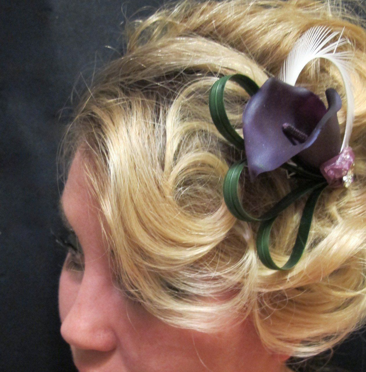 purple calla lily hair clip >>> learn more by visiting the image