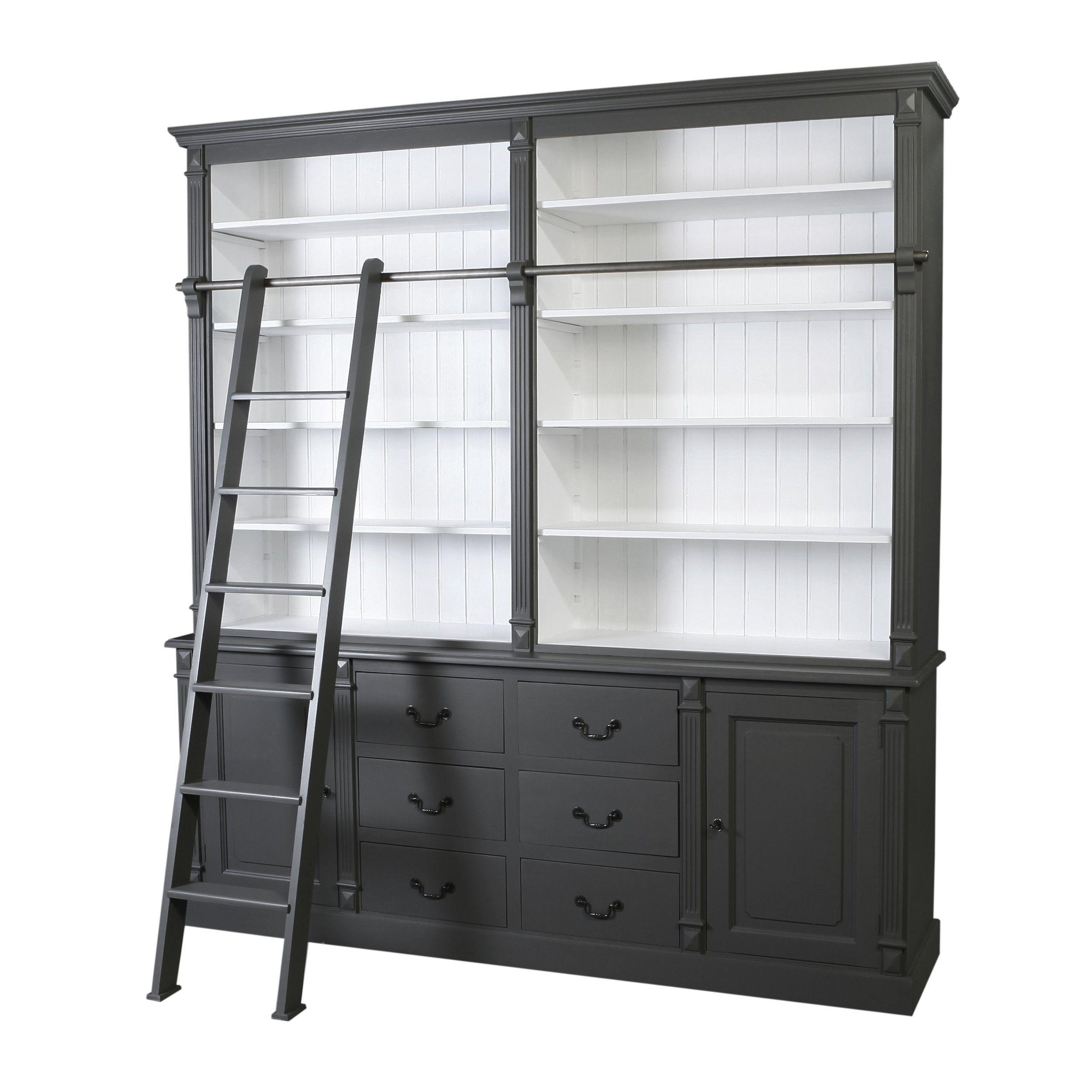 de chte boekenliefhebber neemt geen genoegen met een boekenkast zonder ladder in deze boekenkast