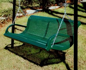 M6WB I SWING | Thermoplastic Coated Park Bench Swing | Patio Swing (Green
