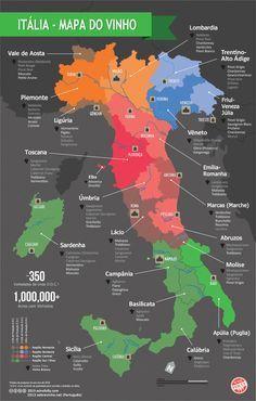 Italia Mapa Dos Vinhos Seyahat Geziler Ve Italya