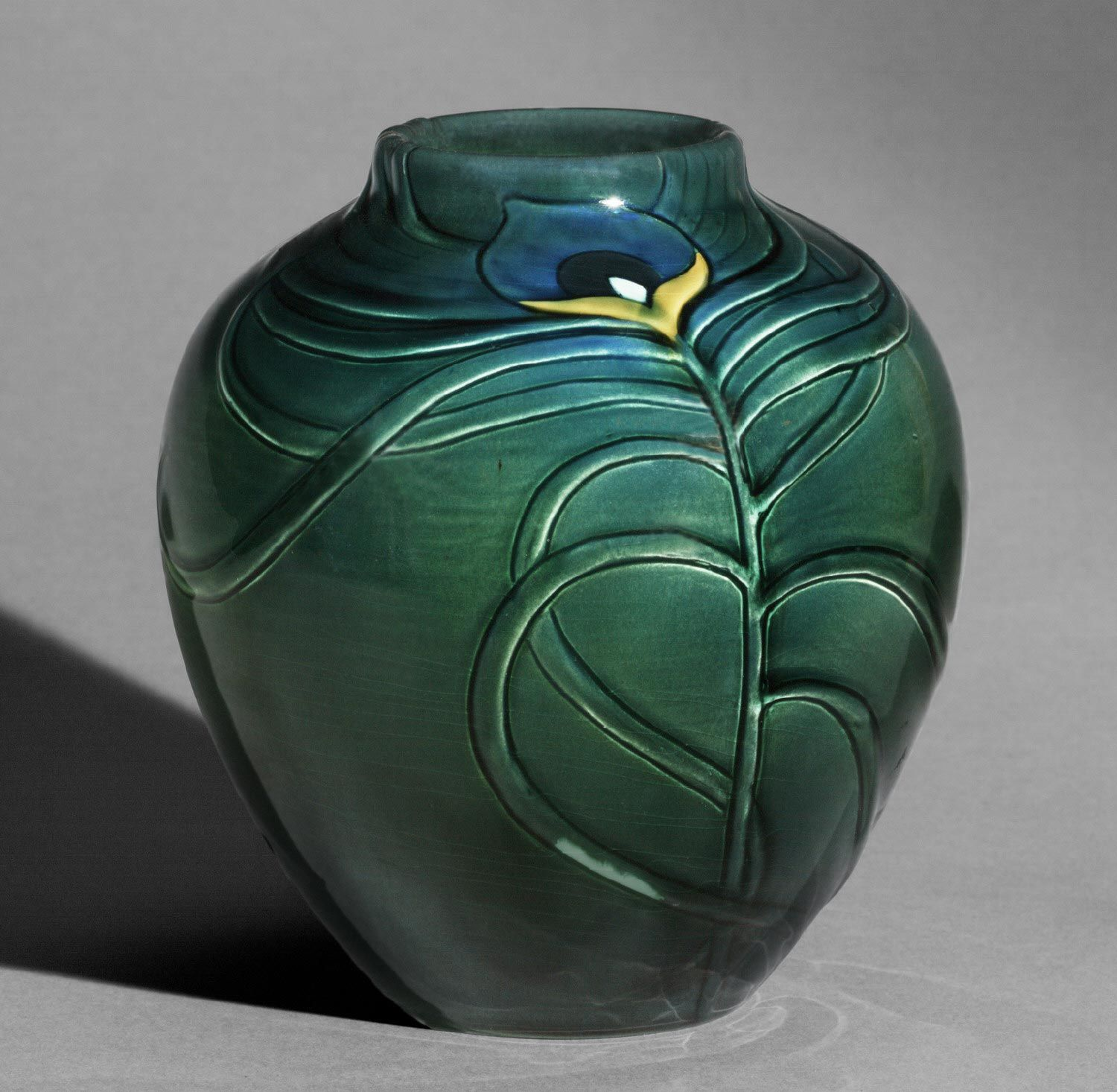 Made by Rookwood Pottery, Cincinnati, Ohio, 1880 - 1960. Decorated by Matthew Andrew Daly, American, 1860 - 1937, active at Rookwood Pottery...