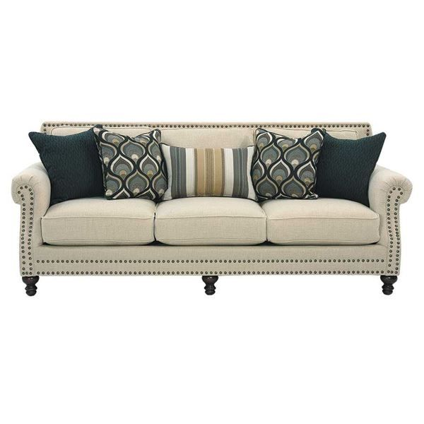 Classy Oatfield Sofa By Corinthian Furniture Airy Oatmeal Color With Graceful Rolled Arms And Incredible Style For Your Livi Sofa Furniture American Furniture New corinthian inc living room