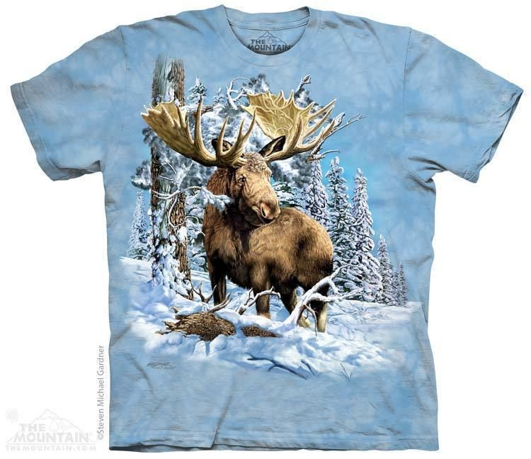 Canadian Moose Canada Flag T-Shirt Blue Tie Dye,Nature,Canadian Flag Tee