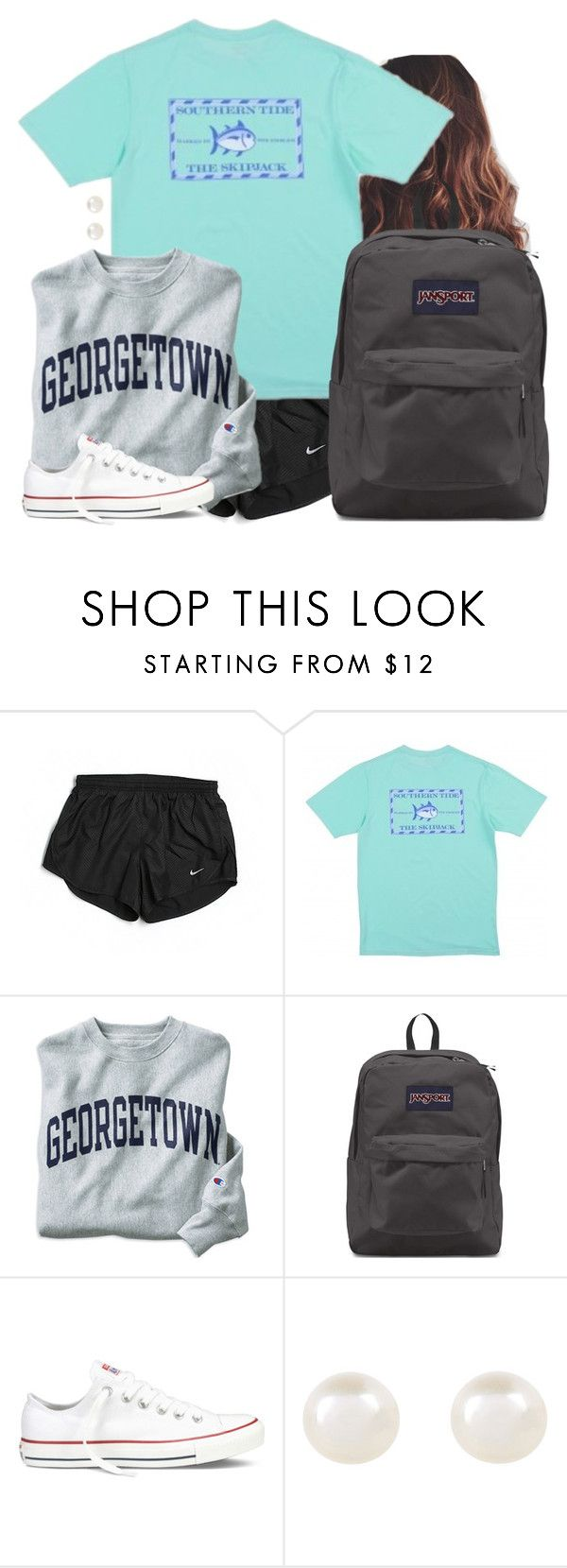 """Tmrw"" by aweaver-2 on Polyvore featuring NIKE, Champion, JanSport, Converse and Accessorize"