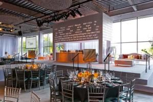 The color scheme was salmon, dusty peach, and orange mixed with white and iridescent blue. Steppenwolf Gala Takes Inspiration From...
