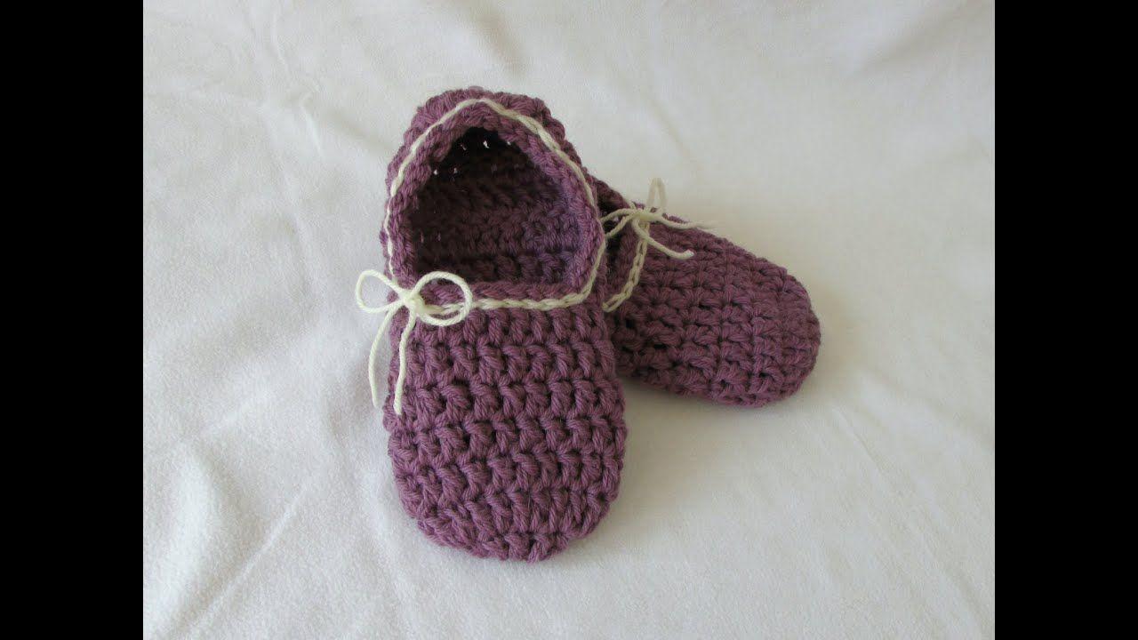 cc0686411ebd VERY EASY crochet women s chunky slippers tutorial for beginners - YouTube