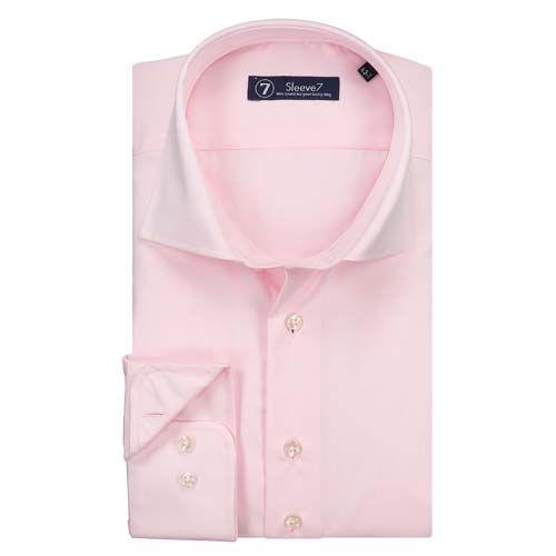 Sleeve7 Roze Luxe  Mooi zachtroze overhemd 100% zuiver katoen Italian spread boord Modieus en tijdloos Modern Fit (licht getailleerd) Easy iron Natuurlijk. Mouwlengte 7  EUR 79.95  Meer informatie