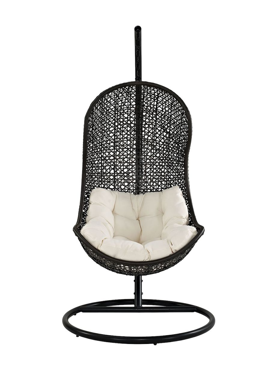 Modway outdoor parlay swing outdoor patio lounge chair