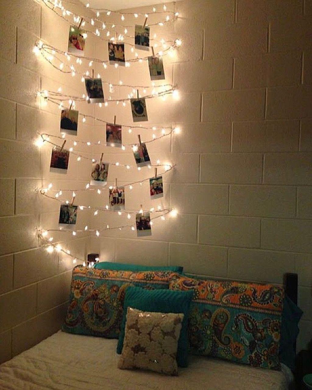 Beautiful Decorating Bedroom With Christmas Lights Christmas