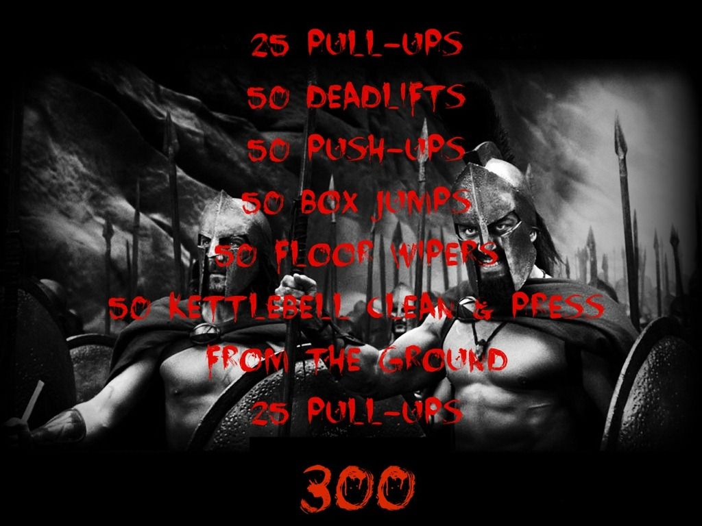 """The """"300"""" Workout. Must beat my brother's time on this"""