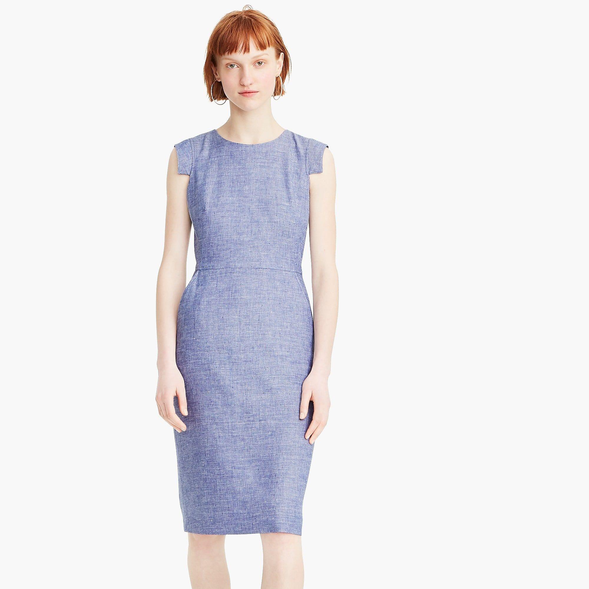 b89a147ded7 Résumé dress in stretch linen   Women wear to work