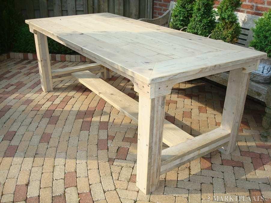 Tuintafel steigerhout tafels pinterest woodworking for Steigerhout tuintafel
