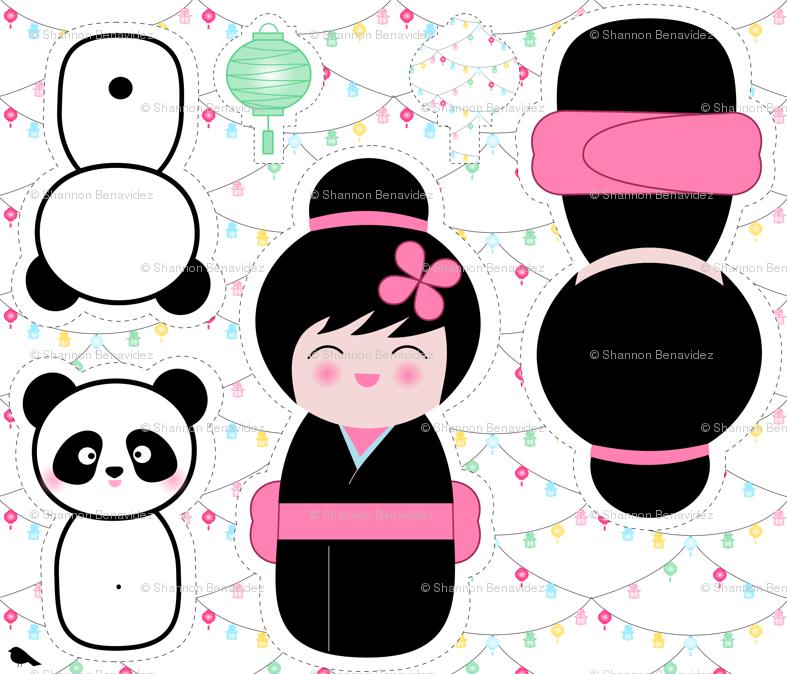 kokeshi et panda