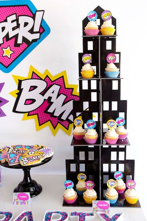 Superhero Girl Birthday Party Ideas