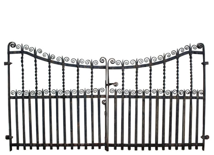 Pair Of Reclaimed Wrought Iron Gates Uk Heritage Wrought Iron