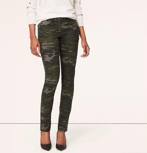 c6d9bbe06fe80 Loft | Tall Camo Print Tailored Twill Skinny Pants in Julie Fit | La ...