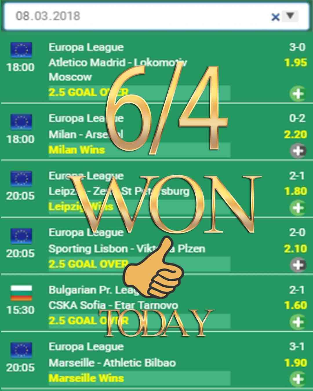 6 4 Won Football Betting Football Bet Football Bets Bettings
