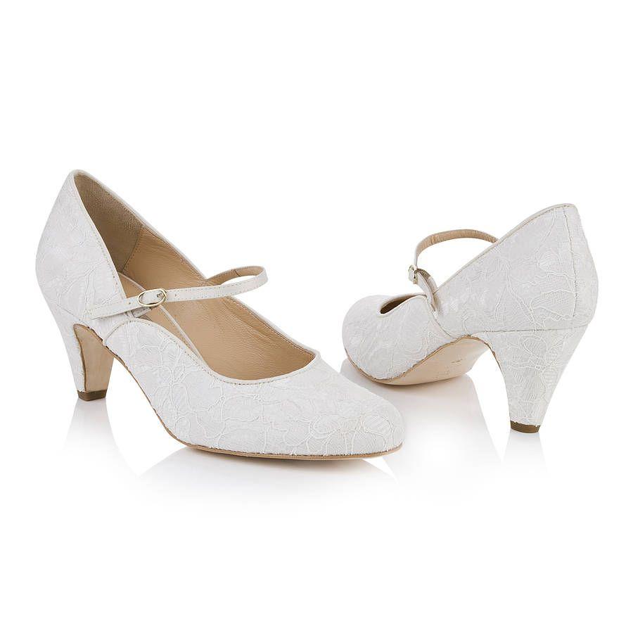 dulcie ivory lace mary jane wedding shoes