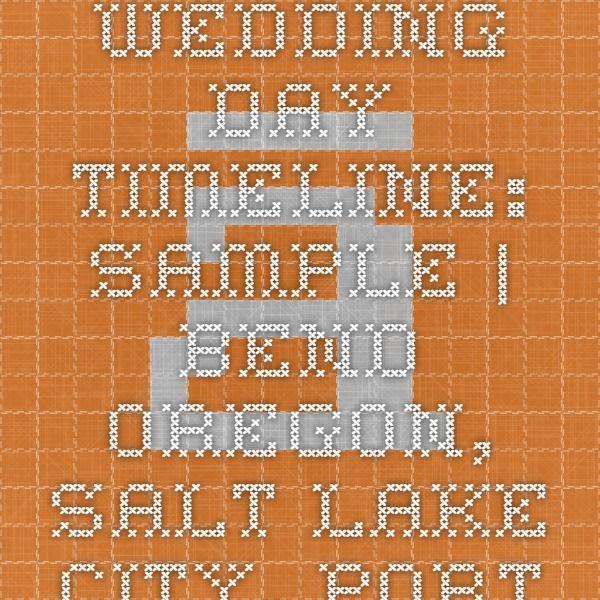 Wedding Day Timeline Sample - timeline sample