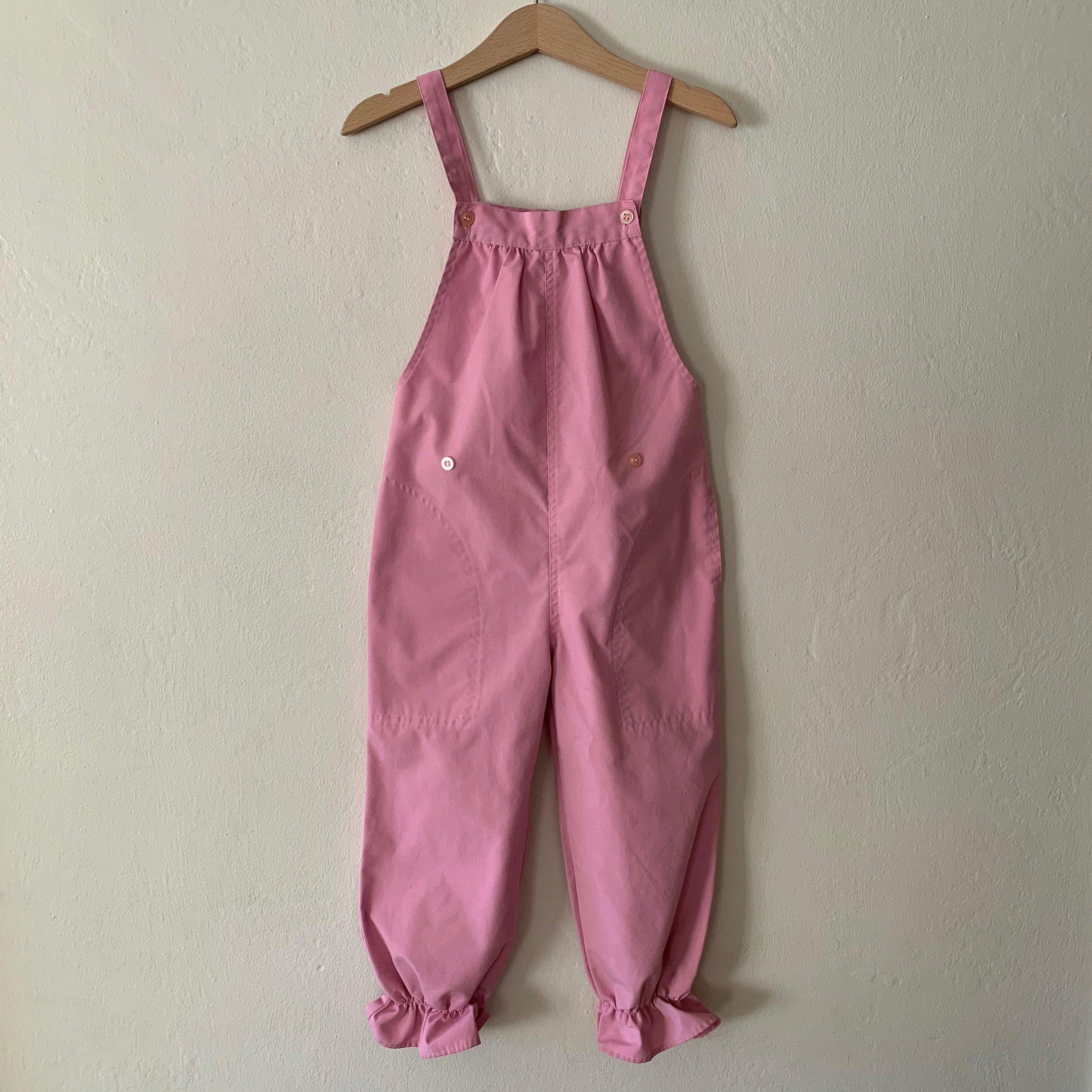 Vintage 80s Baby Clothes Bubble Romper Checked Overalls with Jacket Size 3-6 Months