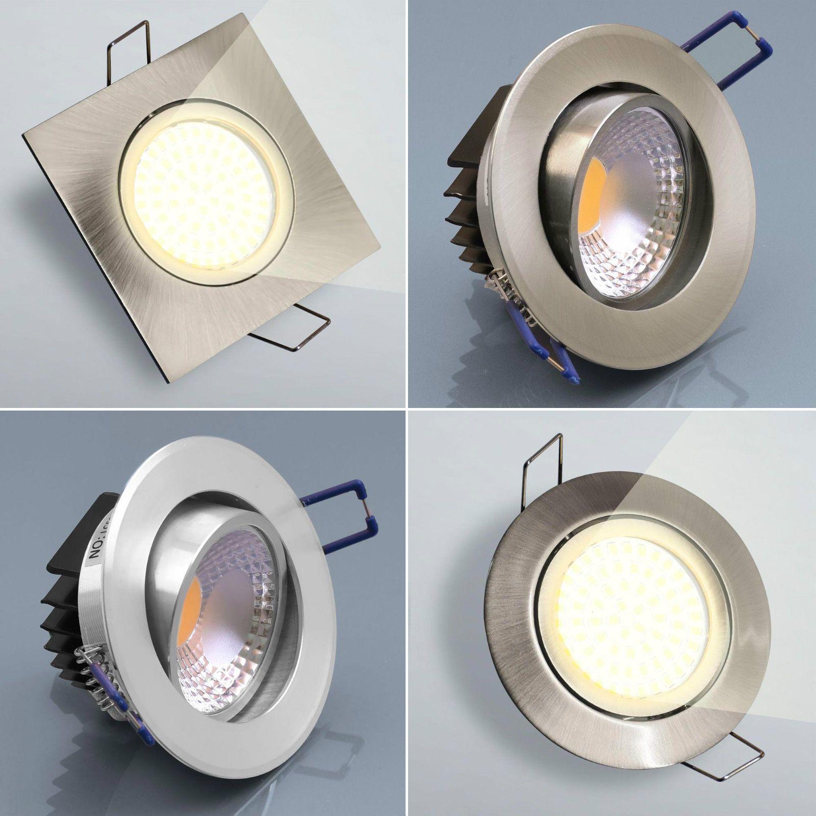 Details Zu Led Einbaustrahler Flach Spot Einbau Lampe