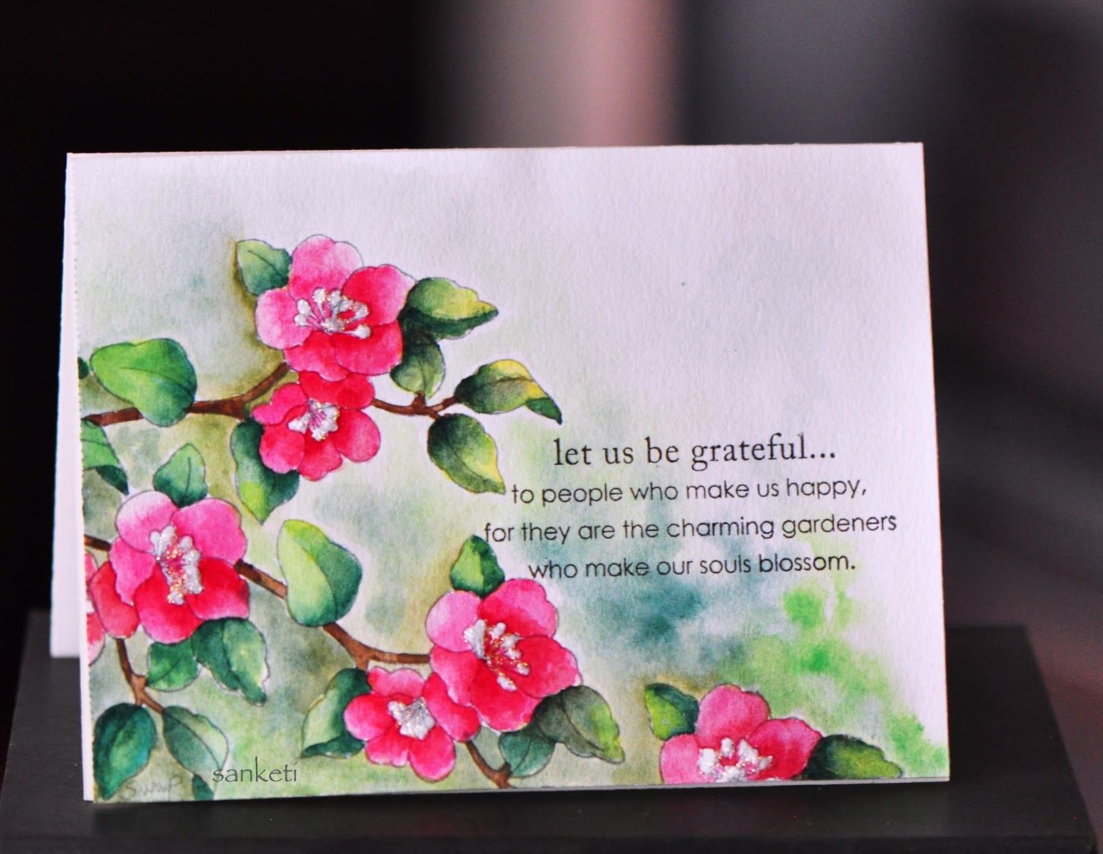 16 Creative Card Making Ideas Part - 34: The Storyteller- Beautiful Watercolor Card!